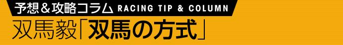 馬場のクセ 11月11日(土)/双馬毅 双馬の方式